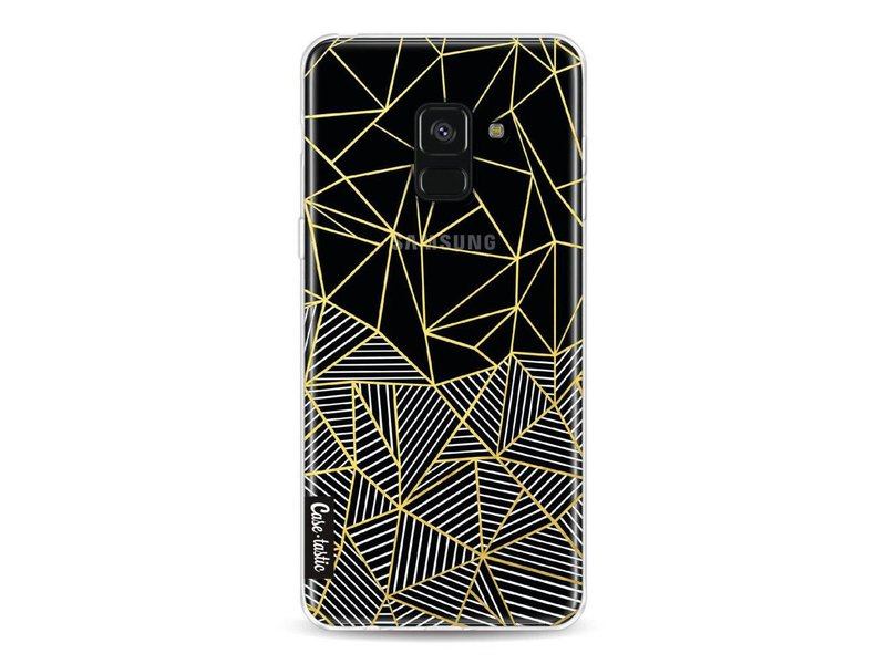 Casetastic Softcover Samsung Galaxy A8 (2018) - Abstraction Half Half Transparent