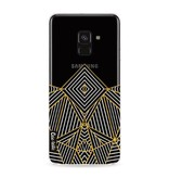 Casetastic Softcover Samsung Galaxy A8 (2018) - Abstraction Half Transparent