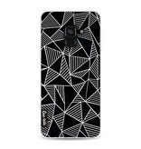 Casetastic Softcover Samsung Galaxy A8 (2018) - Abstraction Lines Black