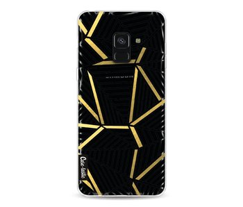 Abstraction Lines Black Gold Transparent - Samsung Galaxy A8 (2018)