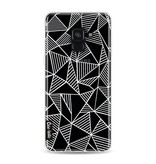 Casetastic Softcover Samsung Galaxy A8 (2018) - Abstraction Lines White Transparent