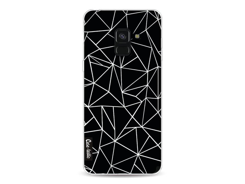 Casetastic Softcover Samsung Galaxy A8 (2018) - Abstraction Outline Black