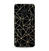 Casetastic Softcover Samsung Galaxy A8 (2018) - Abstraction Outline Gold
