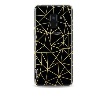 Abstraction Outline Gold Transparent - Samsung Galaxy A8 (2018)