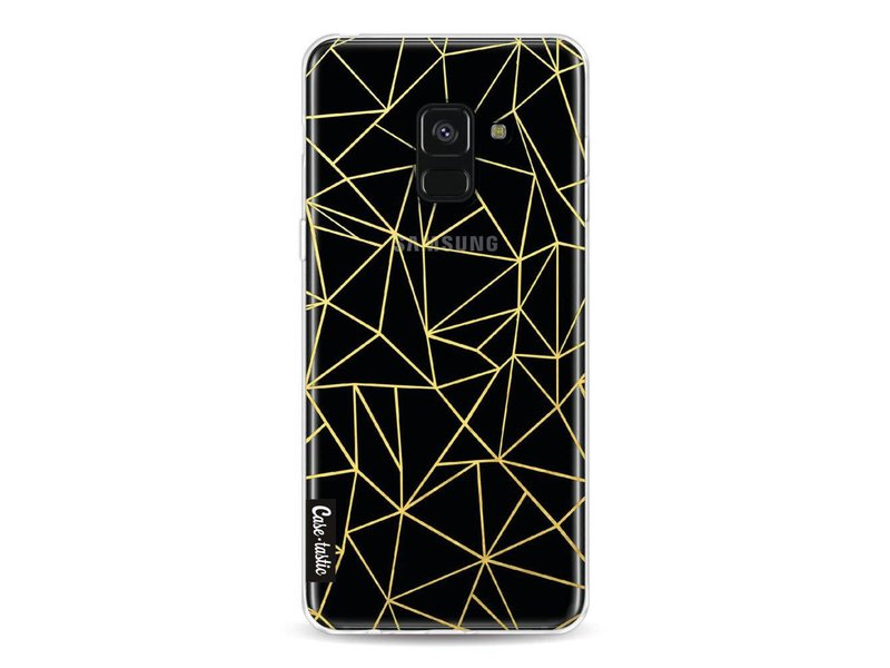 Casetastic Softcover Samsung Galaxy A8 (2018) - Abstraction Outline Gold Transparent