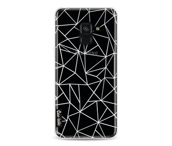 Abstraction Outline White Transparent - Samsung Galaxy A8 (2018)