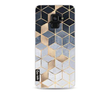 Soft Blue Gradient Cubes - Samsung Galaxy A8 (2018)