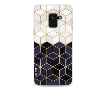 White and Navy Cubes - Samsung Galaxy A8 (2018)