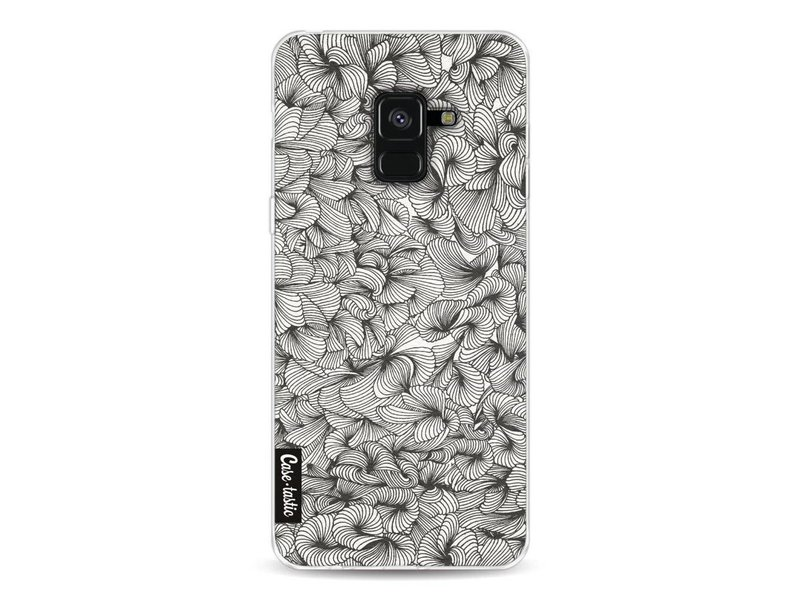 Casetastic Softcover Samsung Galaxy A8 (2018) - Abstract Pattern Black