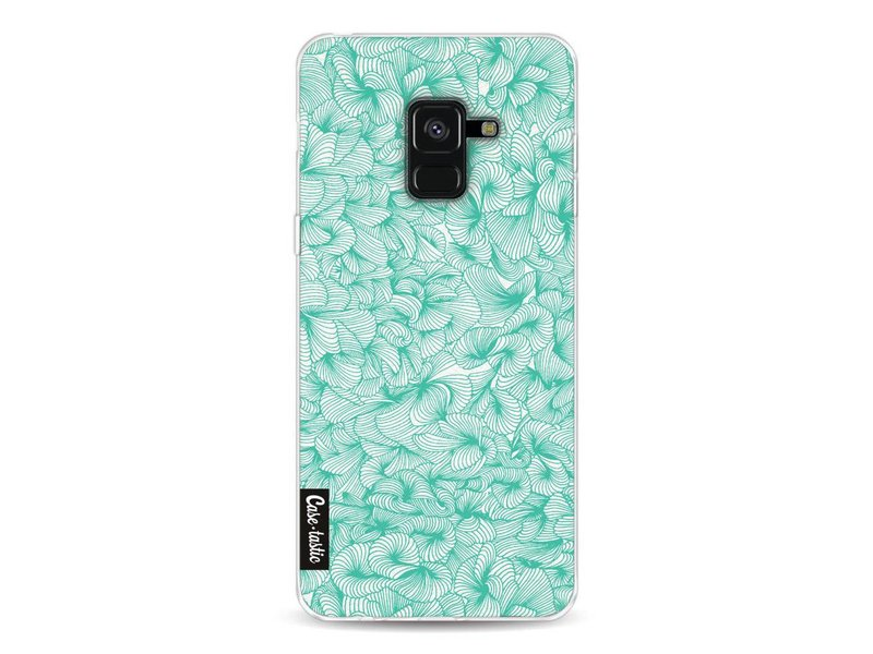 Casetastic Softcover Samsung Galaxy A8 (2018) - Abstract Pattern Turquoise