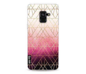 Pink Ombre Triangles - Samsung Galaxy A8 (2018)