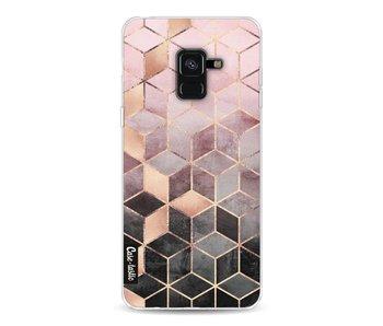 Soft Pink Gradient Cubes - Samsung Galaxy A8 (2018)