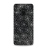 Casetastic Softcover Samsung Galaxy A8 (2018) - Abstract Marble Triangles
