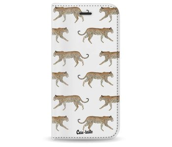 Hunting Leopard - Wallet Case White Apple iPhone 8