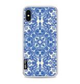 Casetastic Softcover Apple iPhone X - Blue White Folk Art