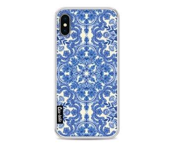 Blue White Folk Art - Apple iPhone X