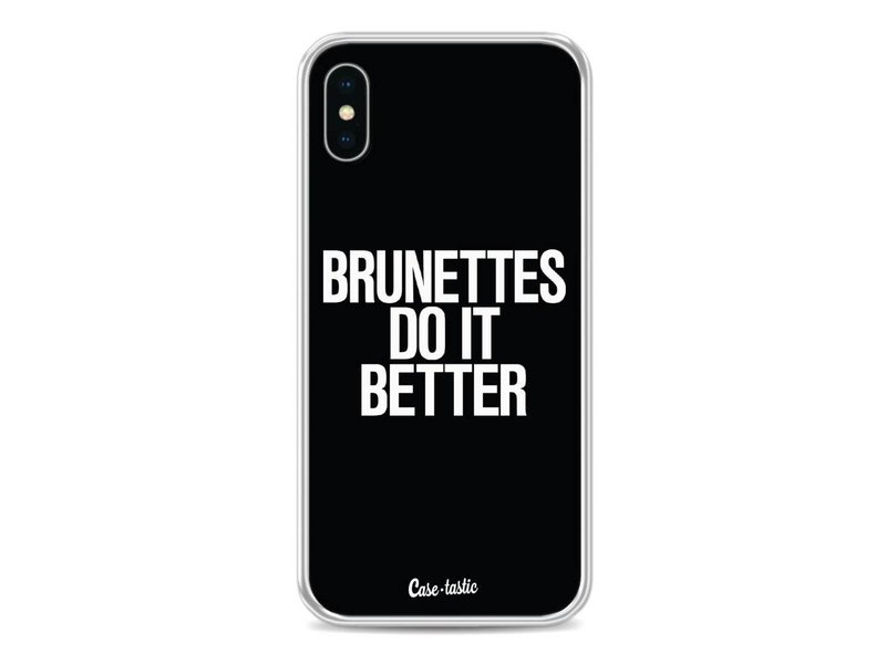 Casetastic Softcover Apple iPhone X - Brunettes Do It Better