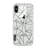 Casetastic Softcover Apple iPhone X - Abstract Dotted Lines Black Transparent