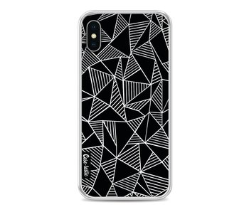 Abstraction Lines Black - Apple iPhone X