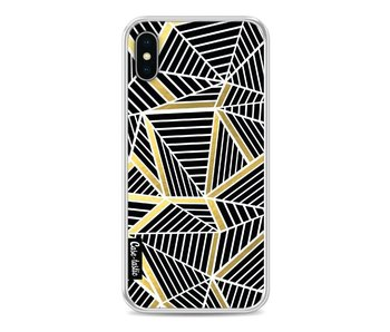 Abstraction Lines Black Gold - Apple iPhone X