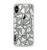 Casetastic Softcover Apple iPhone X - Abstraction Lines Black Transparent
