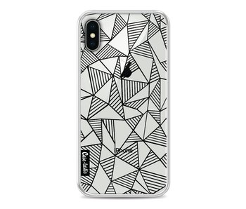 Abstraction Lines Black Transparent - Apple iPhone X