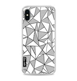 Casetastic Softcover Apple iPhone X - Abstraction Lines White