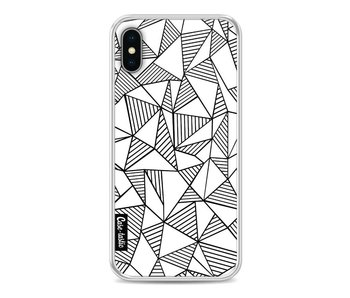 Abstraction Lines White - Apple iPhone X