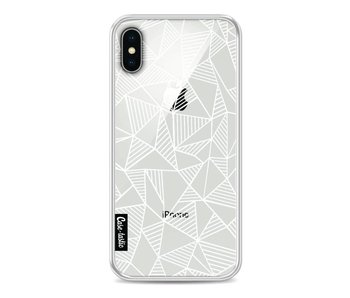 Abstraction Lines White Transparent - Apple iPhone X