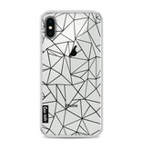 Casetastic Softcover Apple iPhone X - Abstraction Outline Black Transparent