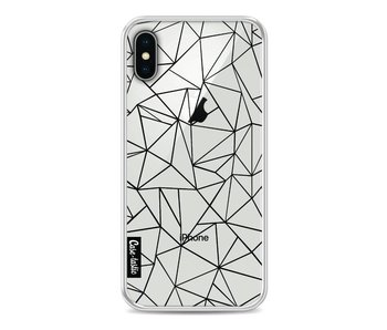 Abstraction Outline Black Transparent - Apple iPhone X