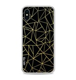 Casetastic Softcover Apple iPhone X - Abstraction Outline Gold