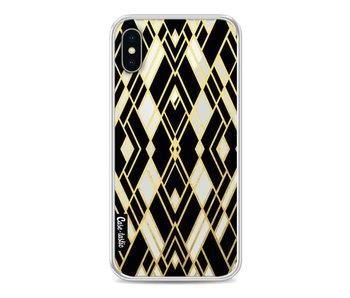 Art Deco Gold Black Transparent - Apple iPhone X
