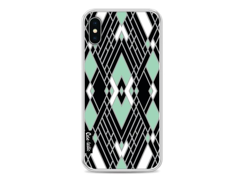 Casetastic Softcover Apple iPhone X - Art Deco Mint