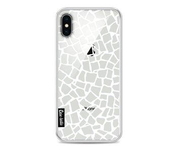 British Mosaic White Transparent - Apple iPhone X