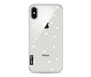 Pin Points Polka Transparent - Apple iPhone X