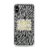 Casetastic Softcover Apple iPhone X - Creme de la Creme Black
