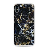 Casetastic Softcover Apple iPhone X - Black Gold Marble