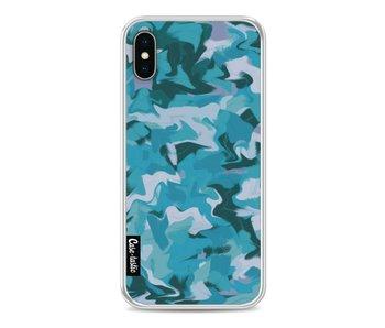 Aqua Camouflage - Apple iPhone X