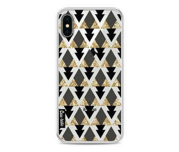 Gold Black Triangles - Apple iPhone X