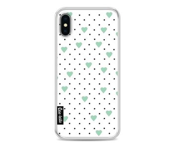 Pin Point Hearts Mint - Apple iPhone X