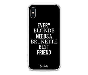 Every Blonde Needs A Brunette Black - Apple iPhone X
