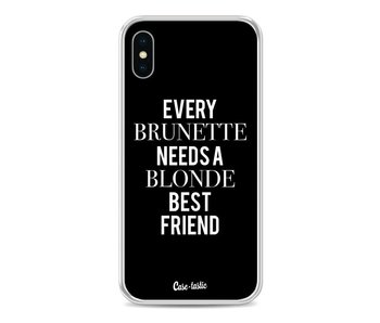 Every Brunette Needs A Blonde Black - Apple iPhone X