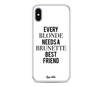 Every Blonde Needs A Brunette White - Apple iPhone X