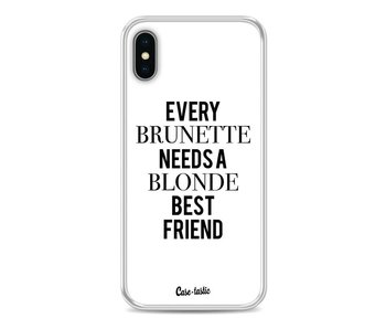 Every Brunette Needs A Blonde White - Apple iPhone X