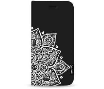 Floral Mandala White - Wallet Case Black Apple iPhone 7 Plus / 8 Plus