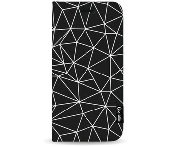 So Many Lines! White - Wallet Case Black Apple iPhone 7 Plus / 8 Plus