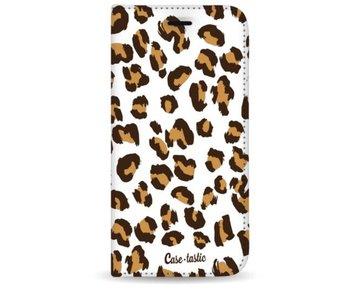 Leopard Print - Wallet Case White Apple iPhone 7 Plus / 8 Plus