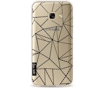 Abstract Dotted Lines Black Transparent - Samsung Galaxy A3 (2017)