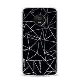 Casetastic Softcover Motorola Moto G5 - Abstract Dotted Lines Black